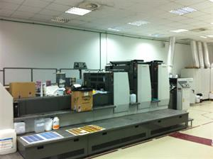 Picture of Komori LS 229 with coater