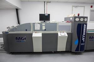 Picture of MGI Jet Varnish Inkjet spot UV coater